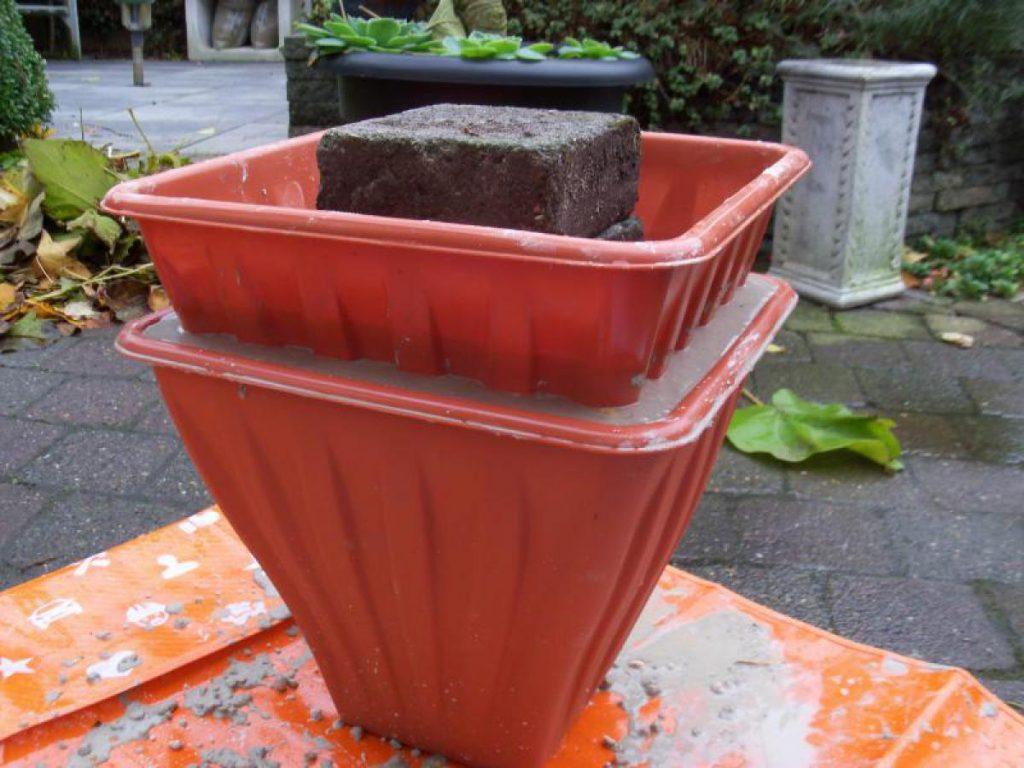 macetas de cemento, hormigón o concreto